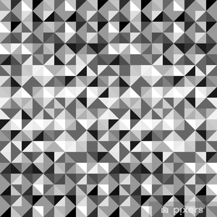 Papier Peint Triangles Geometriques En Noir Et Blanc Seamless