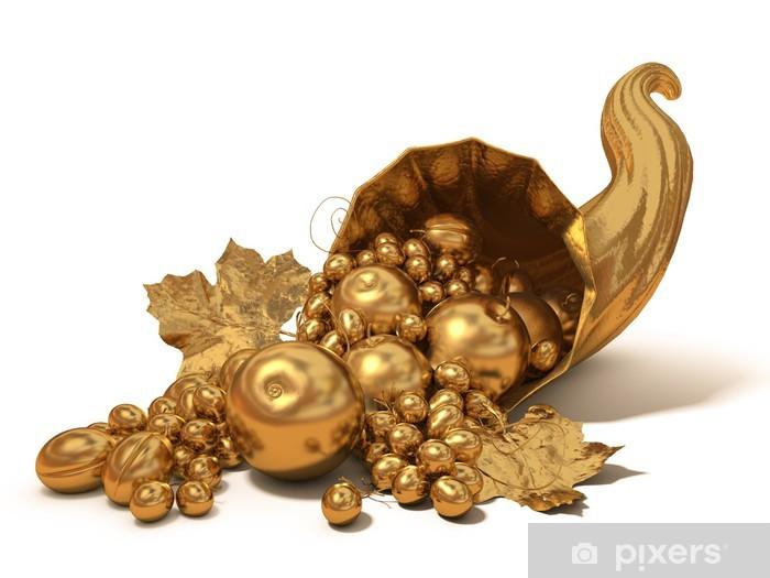 Sticker Pixerstick Corne d'Or de l'abondance - Réussite