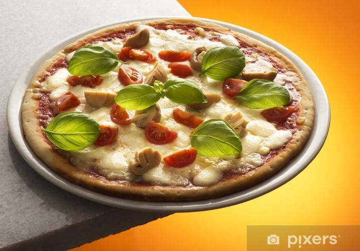 Vinyl-Fototapete Pizza mit Pilzen - Themen