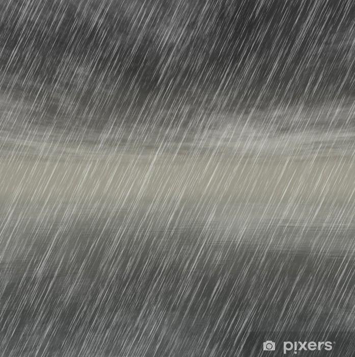 Sticker Pixerstick Milieux pluie d'orage par temps nuageux - Arrière plans