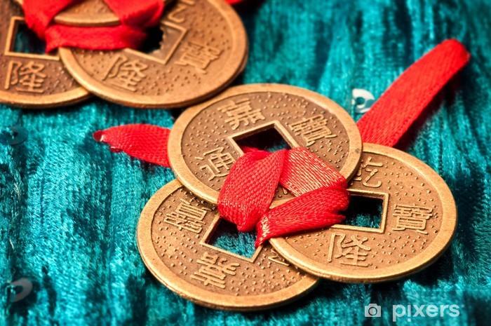 Naklejka Pixerstick Chińczycy monety - Sukces i osiągnięcia
