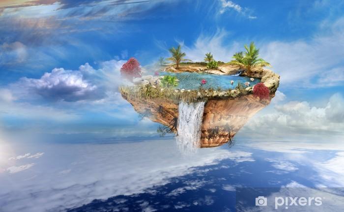 Ile Volante papier peint Île volante dans le ciel • pixers® - nous vivons pour