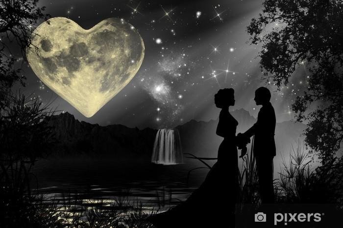 Nálepka Pixerstick Valentýn romantická atmosféra - Prázdniny