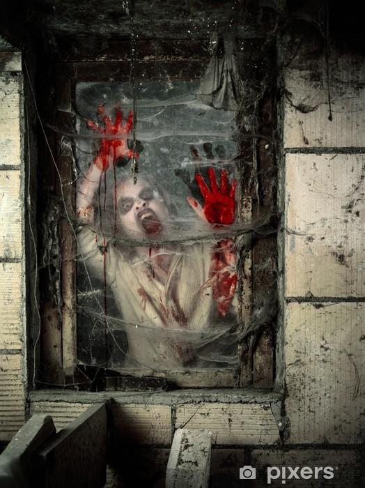 Papier peint vinyle Undead à la fenêtre - Thèmes