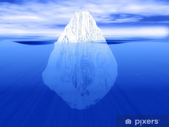 Fototapeta winylowa 3D render z góry lodowej częściowo zanurzone w wodzie - Tematy