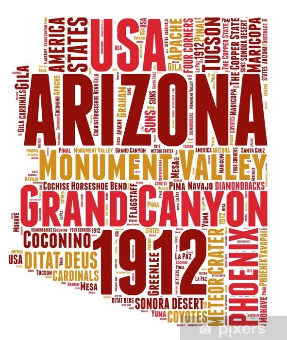 Fototapete Trans / en / trans-en-Arizona-usa-State-map-tag-cloud-de ...