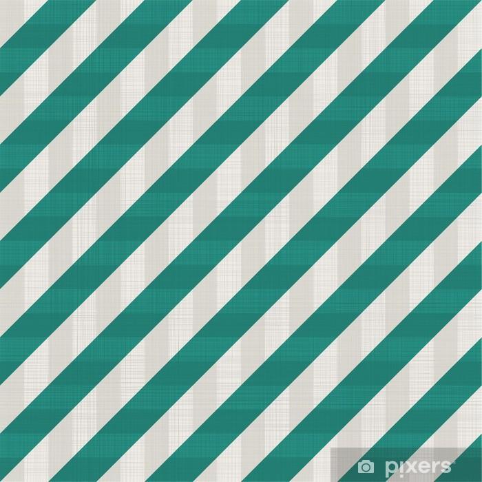 Naklejka Pixerstick Szwu retro wzór z zielonych linii ukośnych - Tła