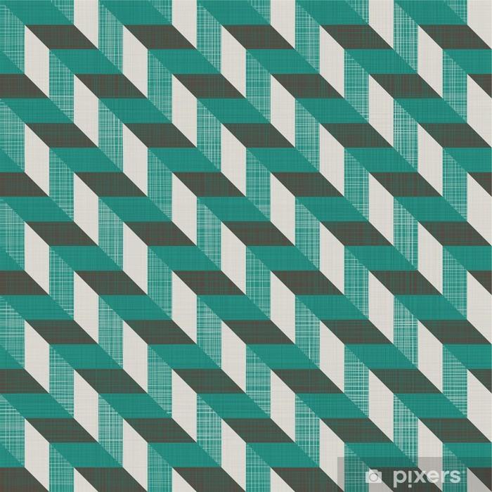 Vinyl Fotobehang Naadloze retro patroon met diagonale lijnen - Achtergrond