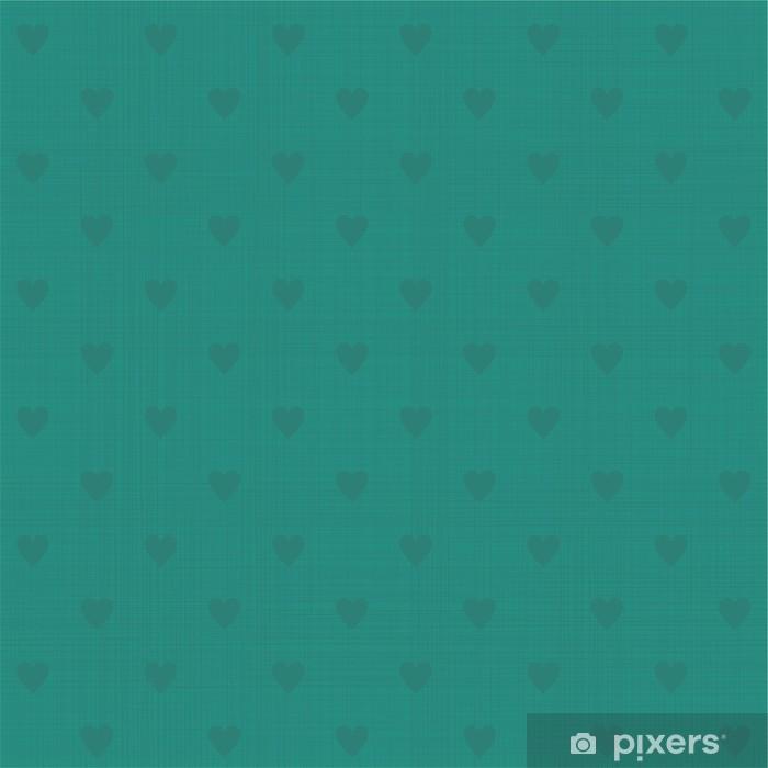 Naklejka Pixerstick Serca bez szwu wzór polka dot tekstury retro - Tła