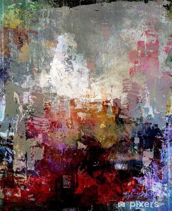 Vinyl Fotobehang Malerei texturen abstrakt - Stijlen