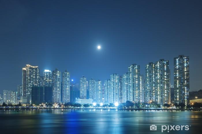 Fototapeta winylowa Księżyc nad Hong Kong City - Inne