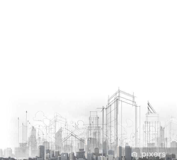 Fotomural Estándar Construcción concepto - Industria pesada