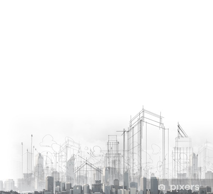 Papier peint vinyle Concept de construction - Industrie lourde