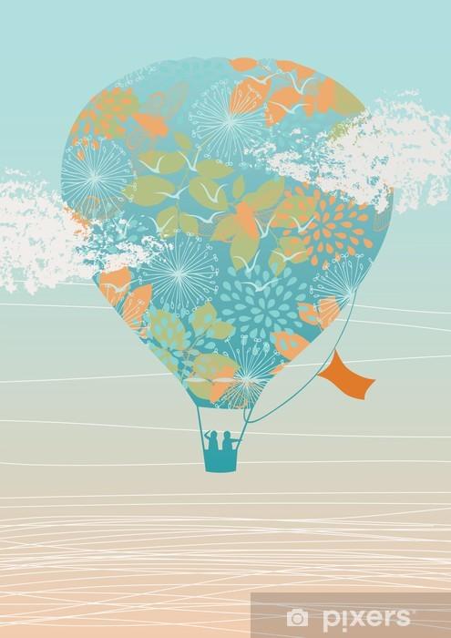 Air Balloon in the Sky Vinyl Wall Mural - Air