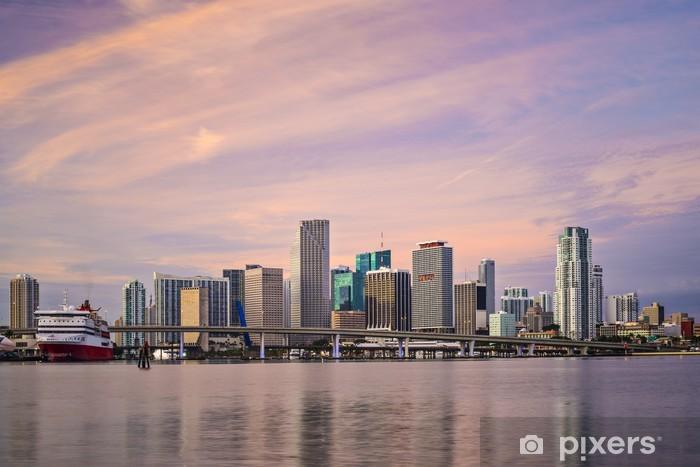 Fototapeta winylowa Miami, Floryda, USA Skyline - Ameryka