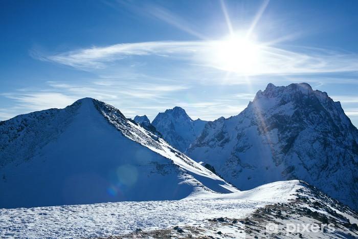 Fototapeta winylowa Góra śniegu - Pory roku