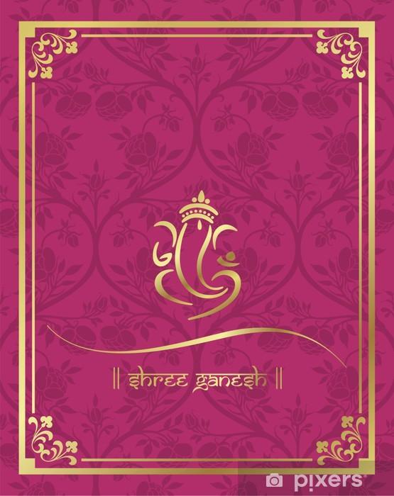 Fototapet Ganesha Hinduiskt Brollop Kort Royal Rajasthan Indien