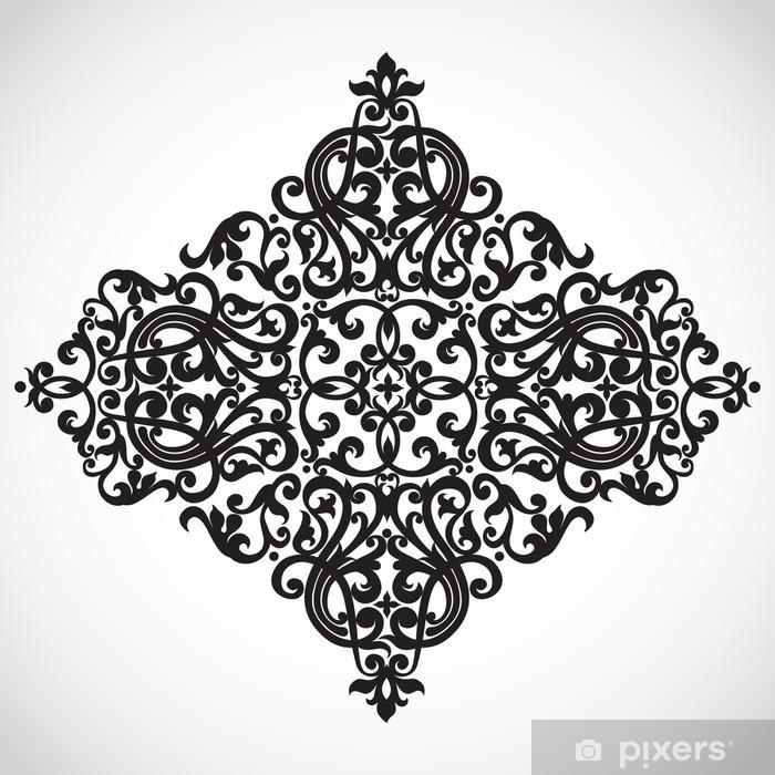 Naklejka na szybę i okno Wektor barokowy ornament w stylu wiktoriańskim. ozdobny elementem. - Tła