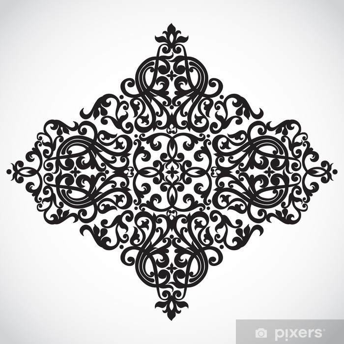 Vector baroque ornament in Victorian style. Ornate element. Poster - Backgrounds