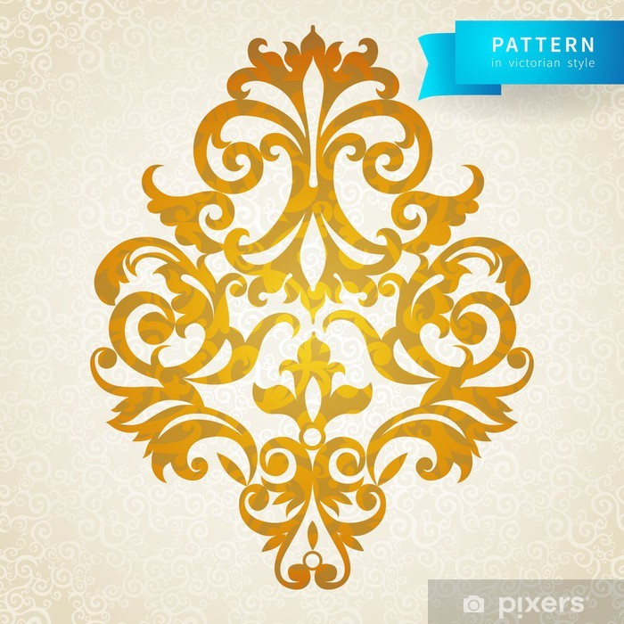 Vector baroque ornament in Victorian style. Ornate element. Poster - Textures