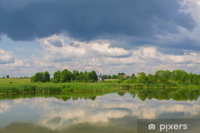 Fototapeta winylowa Jezioro w tle - Woda
