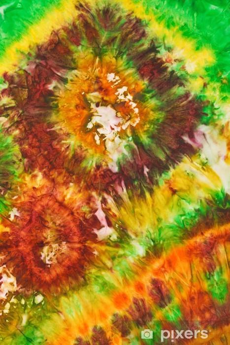 Naklejka Pixerstick Abstrakcyjny wzór na jedwabiu batik ręcznie - Sztuka i twórczość