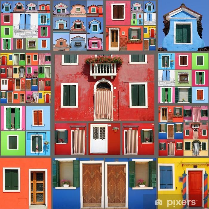 Fotomural Estándar Casa abstracta collage - Ciudades europeas