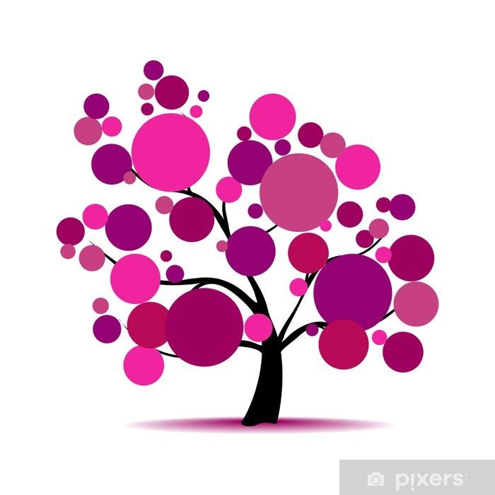 Fototapeta winylowa Drzewa na fioletowy tekst - Drzewa
