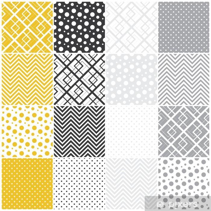 Vinilo Pixerstick Geométricos patrones sin fisuras: cuadrados, lunares, chevron - Fondos