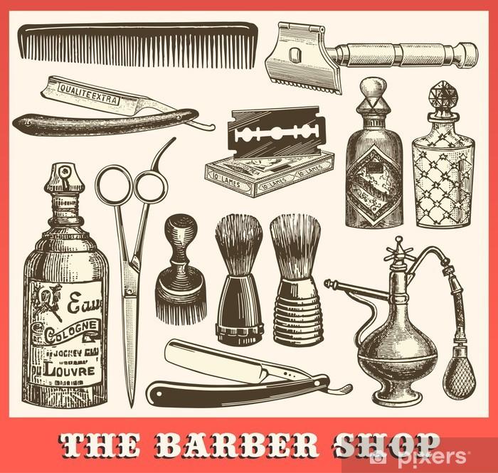 Papier peint vinyle Le salon de coiffure - Destin