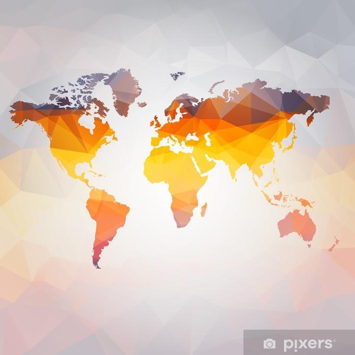 Naklejka Pixerstick Nowoczesne pojęcie wektora mapa świata - Style