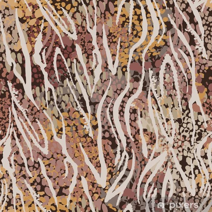 Vinyl Fotobehang Jungle vlekken ~ naadloze achtergrond - Texturen