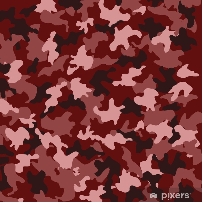 Red Camouflage Vinyl Wall Mural Other Feelings