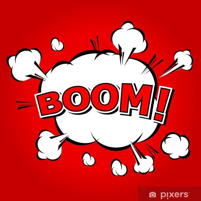 Papier peint vinyle Boom! - Bulle Comic, Cartoon - Signes et symboles