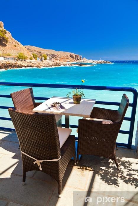 Nálepka Pixerstick Cafe v přední části moře - Evropa
