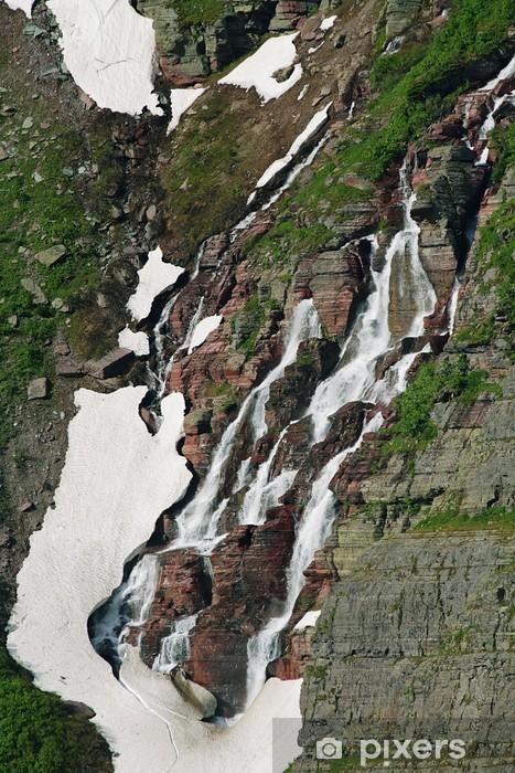 Vinyl Fotobehang Water vallen uit bergen muren - Amerika