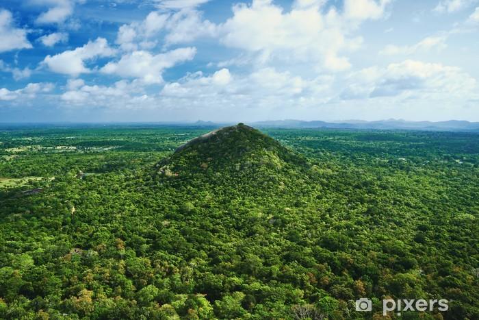 Naklejka Pixerstick Niesamowite zielony krajobraz wzgórza porośnięte drzewami - Wakacje