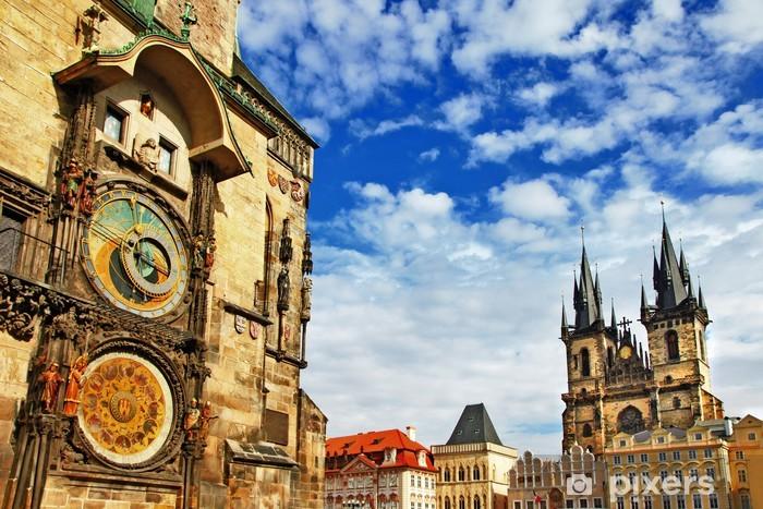 Fotomural Estándar Praga, República Checa - vista del reloj de la Plaza y astronómica - Praga