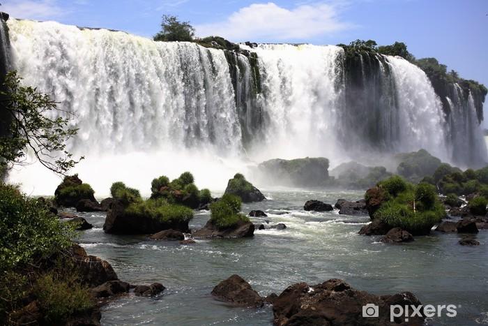 Fototapeta winylowa Iguassu (Iguazu, Iguazu) Falls - Duże Wodospady - Brazylia