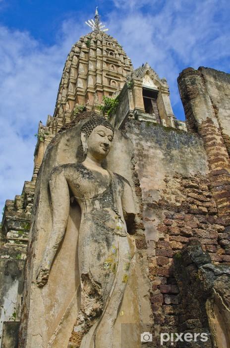 Naklejka Pixerstick Ładne Buddy w Sukhothai - Azja