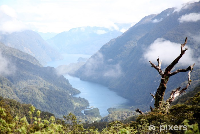 Sticker Pixerstick Doubtful Sound, Nouvelle-Zélande - Eau