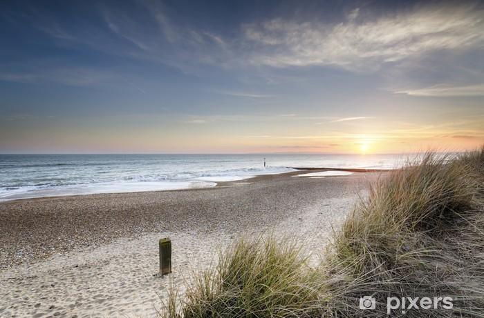 Fototapeta winylowa Zachód słońca i wydmy - Tematy