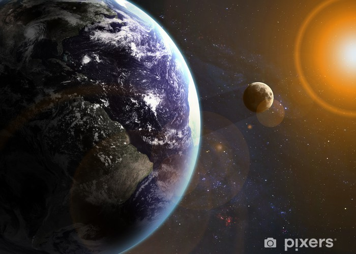 Earth in space. Elements of this image furnished by NASA Vinyl Wall Mural - Universe