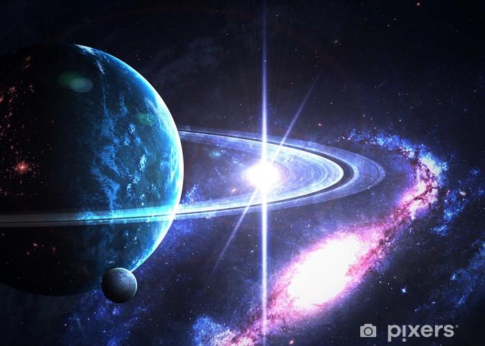 Vinyl Fotobehang De ringen van Saturnus - Thema's