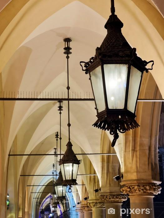 Naklejka Pixerstick Gotyckie arkady nocą - Europa