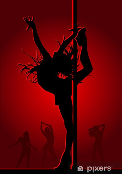 Vinylová fototapeta Tančící dívka v červeném světle - Vinylová fototapeta