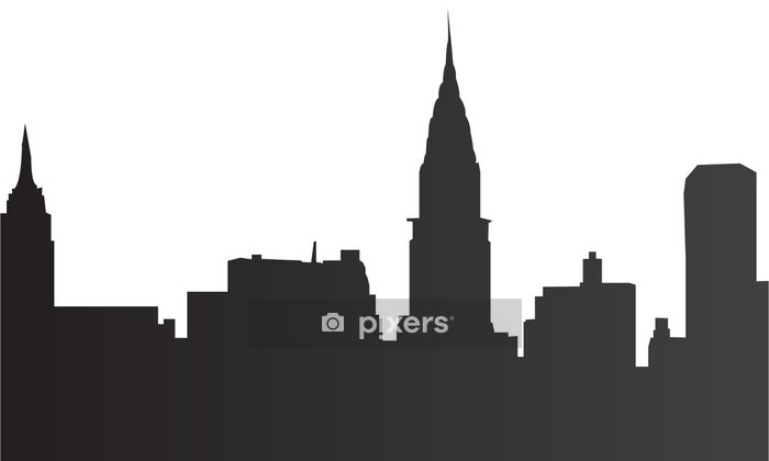 Amazon Com Canvas On Demand New York Skyline Wall Decal 12 X16 Home Kitchen
