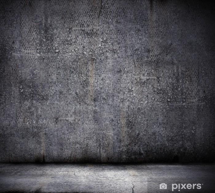 Poster Fond noir mur - Arrière plans