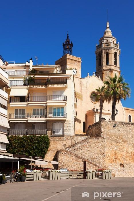 Vinyl-Fototapete Kirche von Sant Bartomeu i Santa Tecla in Sitges - Europa