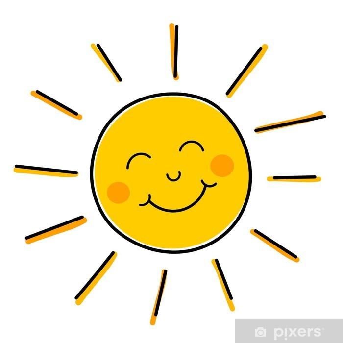 Plakat Uśmiecha się słońce wektor • Pixers® - Żyjemy by zmieniać